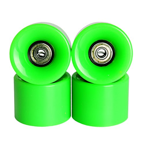 Andux Land mini skateboard wheels for mini Complete Skateboard penny fish board 85A Plastic green white red HBLZ-01 (Fish Wheel)