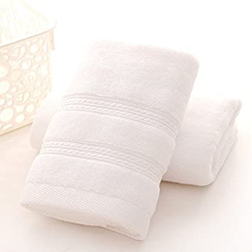 JUNHONGZHANG 3Pcs 100% Algodón Toalla Blanca para Adultos Una Toalla De Baño Toalla Facial De Color Sólido Bayeta Absorbente Alta 400Gsm, Blanco: Amazon.es: ...