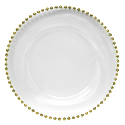 ChargeIt by Jay Beaded Round Charger Plate, Gold