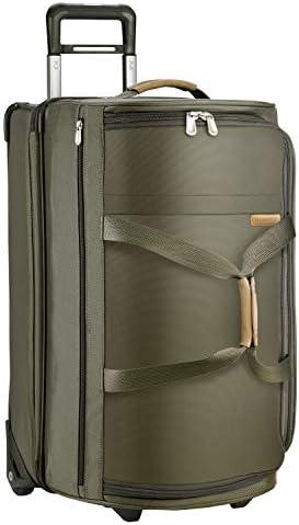 Briggs Riley Baseline-Softside Medium Upright Rolling Duffle Bag, Olive, 27-Inch