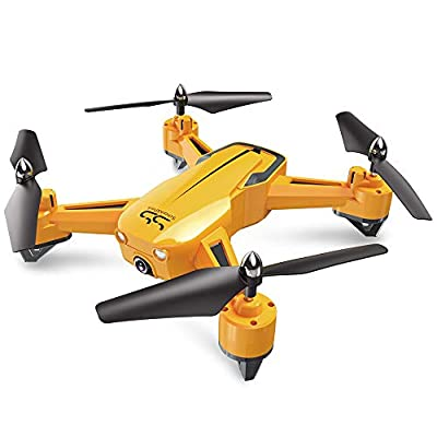 ScharkSpark Drone, SS40 The Wasp Drone-1080P 120° FPV HD Camera/Video, RC Toy Quadcopter Equipped with G-Sensor Technology, Voice Command, Hover Technology,3 Speed Mode, 360 flip by ScharkSpark