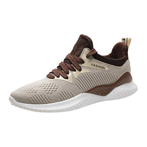 (JUSTWIN Summer Men's Sports Shoes Mesh Woven Breathable Travel Hiking Running Sneakers Shoes)