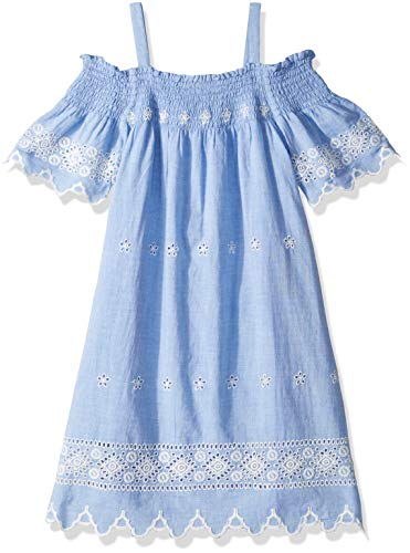 Ella Moss Girls' Big Chambray Eyelet Dress, 12 ()