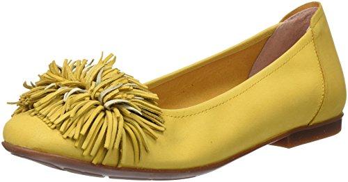 Sabrinas Dames Versalles Gesloten Ballerina Geel (geel)