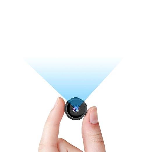 RIRGI Mini Camara Espía Oculta con WiFi Remota, con Detector de Movimiento IR Visión Nocturna, Camaras de Seguridad Pequeña para Interior/Exterior ...