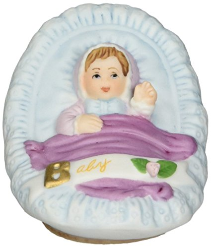 Growing up Girls from Enesco Brunette Newborn Figurine 1.75 IN