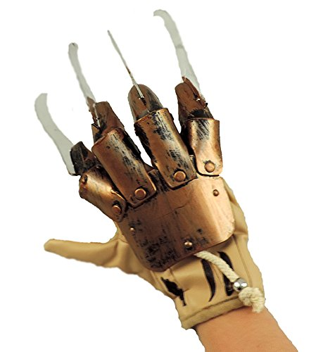 Deluxe Freddy Krueger Claw Glove Nightmare On Elm Street Prop Brown -