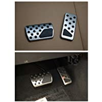 Nicebee (2 pieces/set) Aluminum Alloy Gas & Brake Pedal Cover Kits for Patrot & Compass & Grand Cherokee 2011-2015