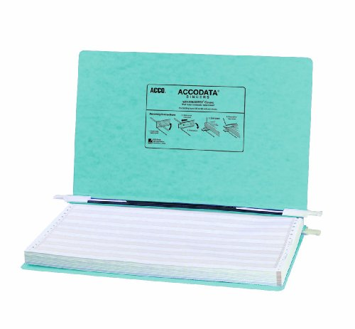 ACCO Pressboard Hanging Data Binder, 14.875 x 8.5 Inches, Light Blue ()