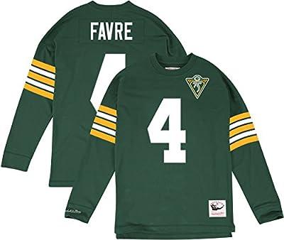"Brett Favre Green Bay Packers Mitchell & Ness NFL Men's ""Go Long"" L/S Shirt"