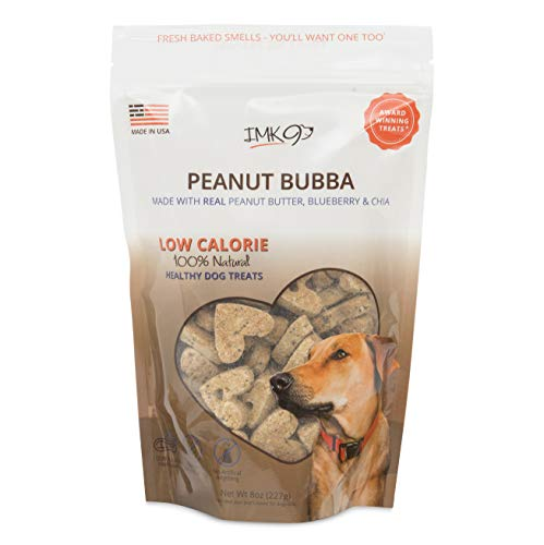 (All Natural Dry Dog Training Treats - Low Calorie - Limited Ingredients Made in USA - Peanut Butter, Organic, Healthy, Balanced, Diet Treat Bag - Best for Small, Big Pets - GMO, Grain, Gluten Free )