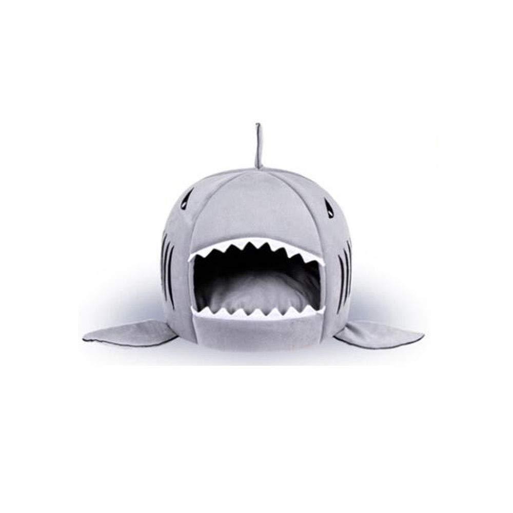 YANJJJ Nido De Mascota Estilo Tiburón Boca, Cuatro Estaciones Universales,Blue-OneSize(42 * 42Cm)
