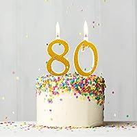 Velas Maxi de 80 años para Tarta de Fiesta de cumpleaños 80 ...