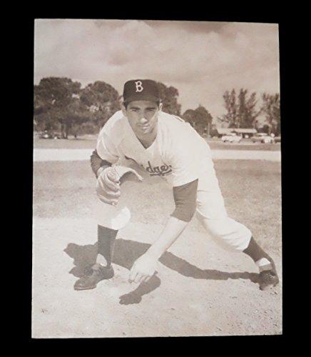 SANDY KOUFAX BROOKLYN DODGERS SEPIA TONED 11x14 PRO PHOTO (Babe Ruth Brooklyn Dodgers)