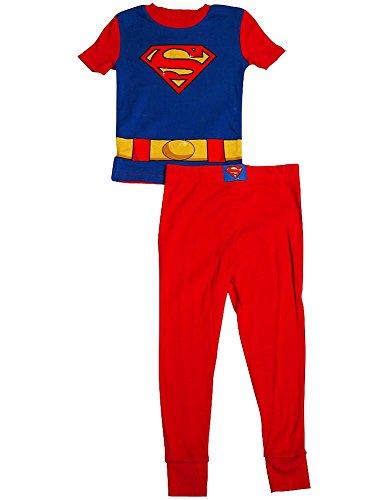 Superman - Little Boys Short Sleeve Superman Pajamas, Red, Royal 34961-10