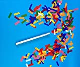Confetti Sticks Flutter fetti Multi Color Tissue Confetti Paper Confetti Flickers 14inch - 125pieces