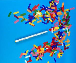 Confetti Sticks Flutter fetti White Tissue Confetti Paper Confetti Flickers 14inch - 150pieces