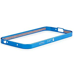 Samsung Galaxy S4   iCues parachoques de aluminio Clip Azul   [Visualiza protector incluido] CNC metal de aluminio caso del marco metálico Case Alubumper Funda Carcasa Bolsa Cover Case