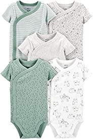 Simple Joys by Carter's Unisex-Baby 5-Pack Short Sleeve Side Snap Body
