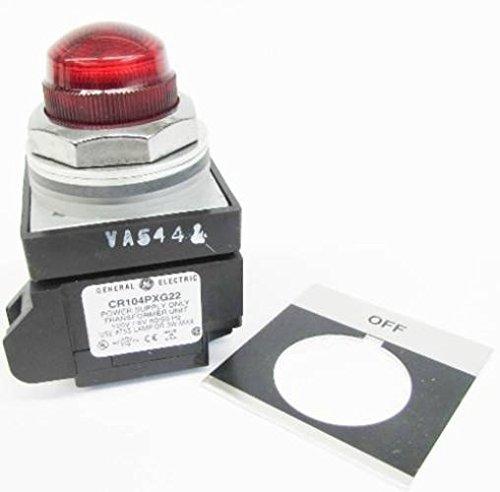 (New GE CR104PLG32RA2 120V Off Red Lens Transformer Pilot Light NIB )