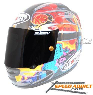 (Suomy Spec-1R / Extreme/Apex/Excel Dark Smoke Race Shield)