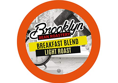Brooklyn Beans Breakfast Blend Coffee Pods, Compatible with 2.0 K-Cup Brewers, 40 Count