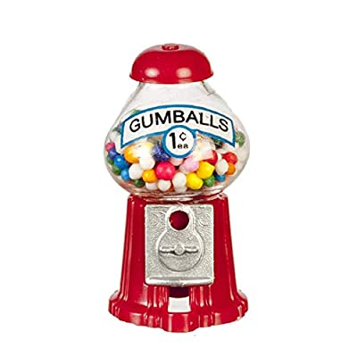 Chrysnbon Dollhouse Miniature Countertop Gumball Machine: Toys & Games