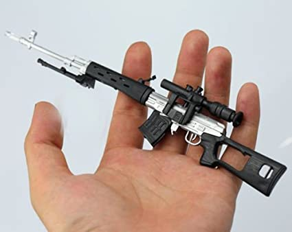 "1:6 Scale Silver Russian SVD sniper rifle Weapon Model For 12/"" Male Figure Model"