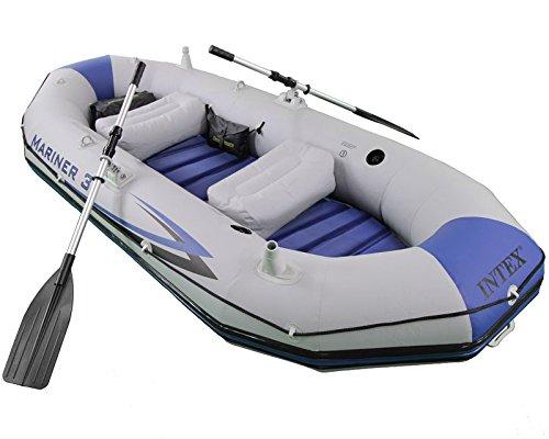 Bote Inflável Intex Mariner 3 C/Par Remos Bomba Barco Pesca