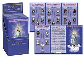 US Gifts How to Pray The Rosary Pocket Card Display 2013 Michael Adams 3