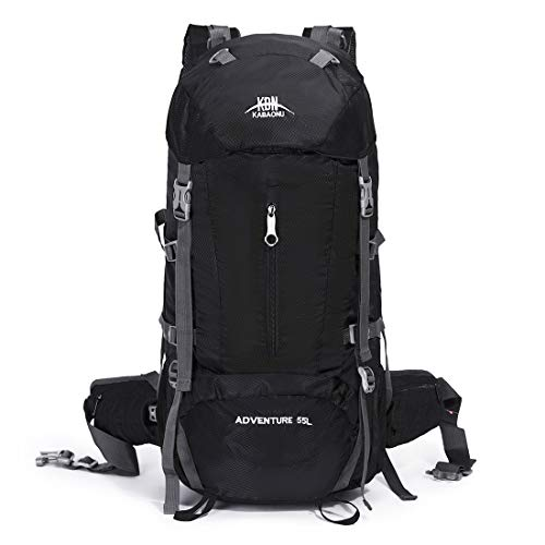 Mooedcoe 55L Internal Frame Hiking Backpack Outdoor Travel Camping Climbing Mountaineering Waterproof Backpacking Packs
