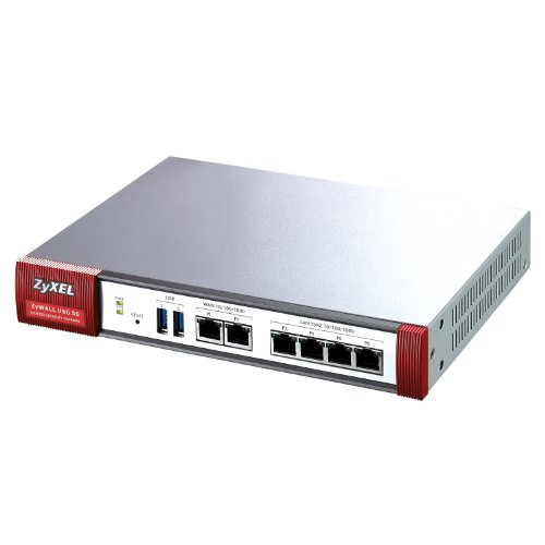 ZyXEL ZyWALL USG50 Internet Security Firewall with Dual-WAN, 4 Gigabit LAN/DMZ Ports, 5 IPSec VPN, SSL VPN, and 3G WAN Support, Best Gadgets