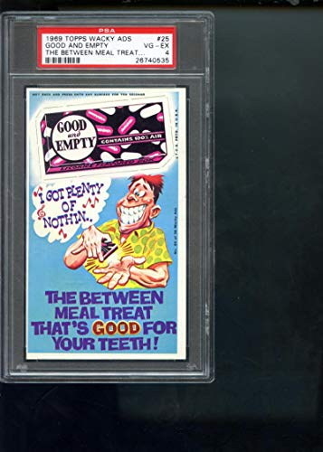1969 Topps Wacky Package Ads #25 Good And Empty The Between Meal Treat PSA 4 Graded Card Packs from Wacky Ads