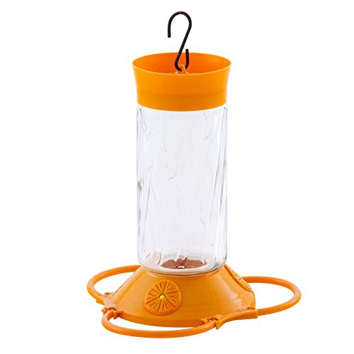 More Birds Deluxe Oriole Feeder, Three Feeding Ports, Orange, 32-Ounce Nectar Capacity (32 Oz Oriole Feeder)