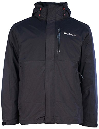Columbia Mens Rural Mountain II Interchange Jacket-Gray/Black Colorblock-Large