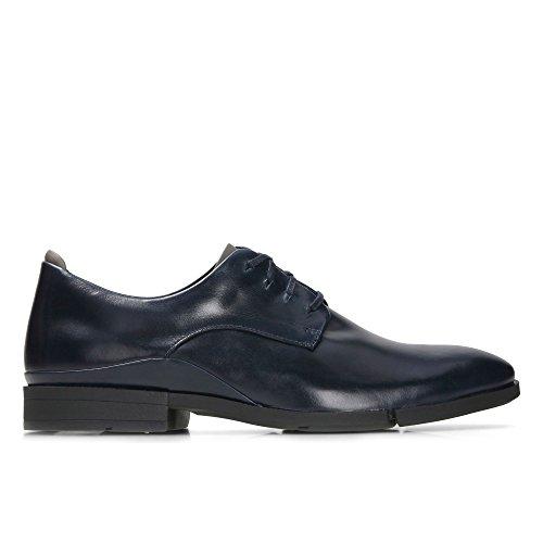 Herren sehr komfortable und elegante Halbschuhe Daulton Walk dunkelblau Leder 26126939