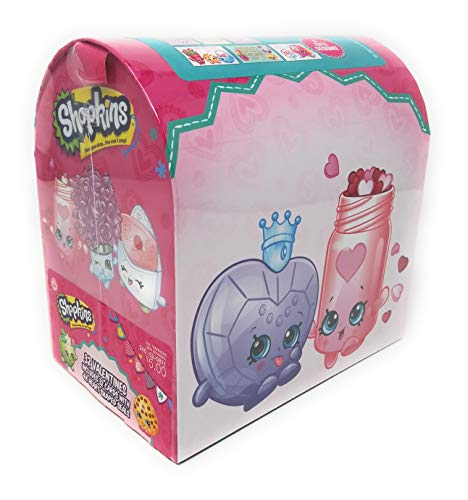 (Shopkins Valentine Cards for Kids with Seals and Mailbox - Pkg. of 32)