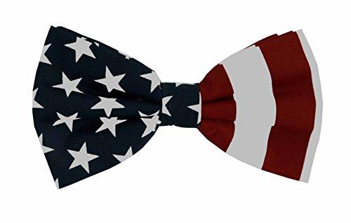 Teen Flag Dress (GIFT_New Men's Premium Dress Tuxedo Bow Tie_US American Flag_Red White Blue (US Flag))