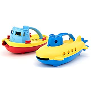 Green Toys Tug Boat & Submarine Combo Pack