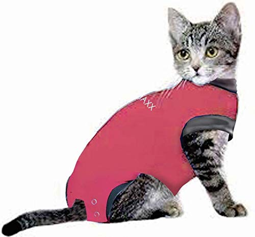 MAXX CAT E Collar Alternative Medical Pet Clothing Recovery suit for Cats & Dogs After Surgery Wear Wound Bandage Protection Anti Anxiety Body Wrap