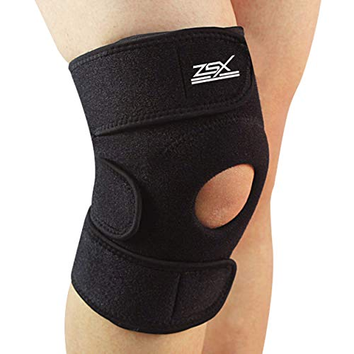ZSX Knee Brace Support Brands – For Pain Relief from Meniscus Tear, Arthritis, Running, Walking, Torn ACL, and MCL. Helps Injury Recovery. Adjustable Compression – MEDIUM (14-16 Inch)