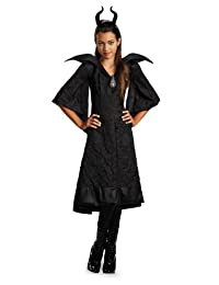 Disguise Disney Maleficent Movie Christening Black Gown Girls Classic Costume, Medium/7-8