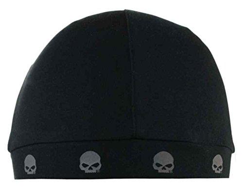Harley-Davidson Men's Willie G Skull Logos Skull Cap, Solid Black SK119980 Logo Skull Cap Beanie