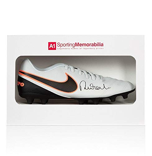 Robbie Fowler Signed Football Boot Nike Tiempo Gift Box Autograph Cleat Autographed Soccer Cleats
