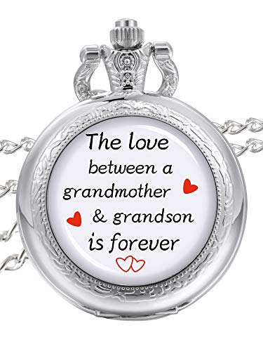 Pangda Pocket Watch The Love Between A Grandmother and Grandson is Forever Gift for Grandmother