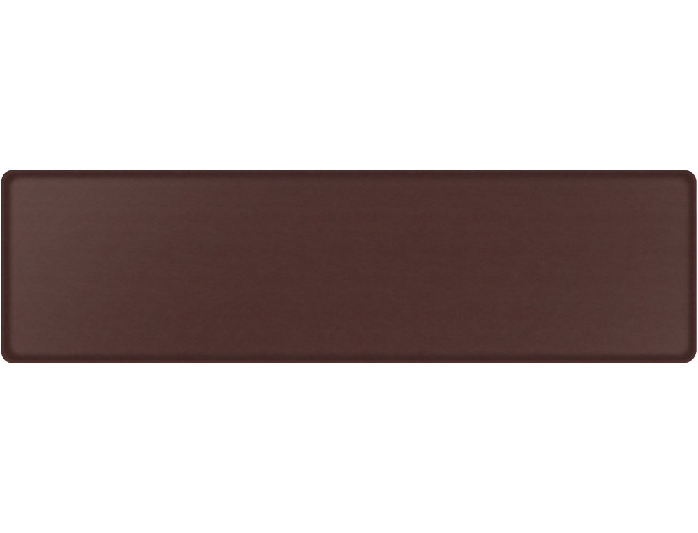 """GelPro Classic Anti-Fatigue Kitchen Comfort Chef Floor Mat, 20x72"""", Vintage Leather Rustic Sherry Stain Resistant Surface with ½"""" gel core for health & wellness by GelPro (Image #1)"""