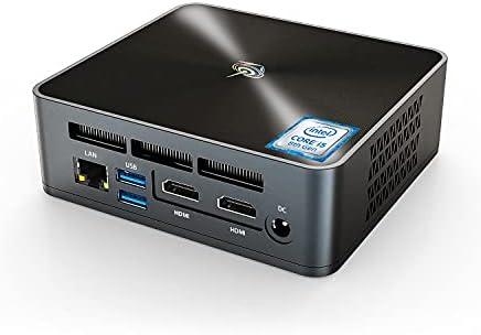 New Intel 4 Cores 8 Thread i5-8279U Processor(up to 4.1Ghz),Win10 Pro Beelink Mini pc with 16G DDR4 RAM/512GB NVMe M.2 SSD, Support 4K HD Dual HDMI Display, WiFi 6, BT5.0, 4USB3.0, Gigabit Ethernet