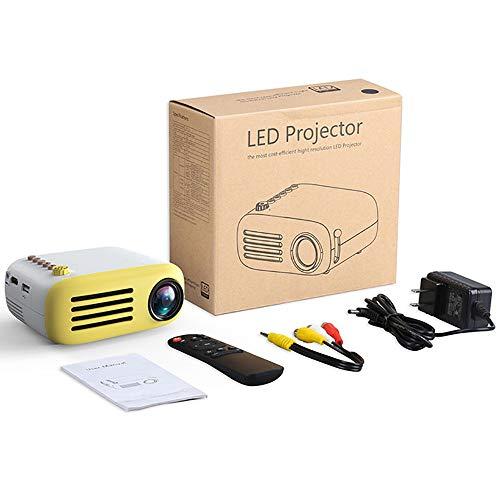 QianBaiHui Projector YG200 Portable LED Pocket Mini AV USB SD HDMI Video Movie Game Home Theater Video Projector Optional Battery,Yelloweuplug