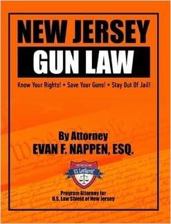 Gun law books.