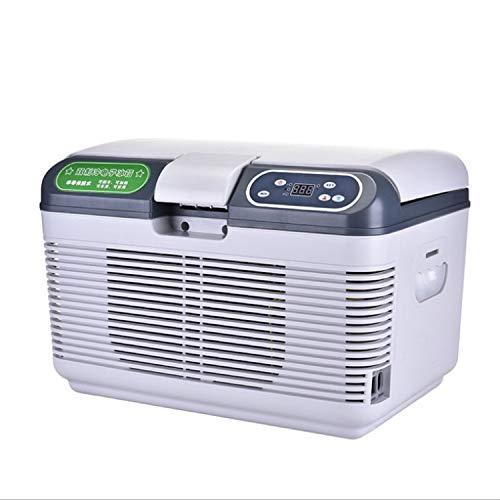 ZXZV Livestock refrigerators Thermostat car Refrigerator 17 Degree Small Refrigerator Portable Refrigeration Box, Suitable for aquaculture (Color : White, Size : 19L)